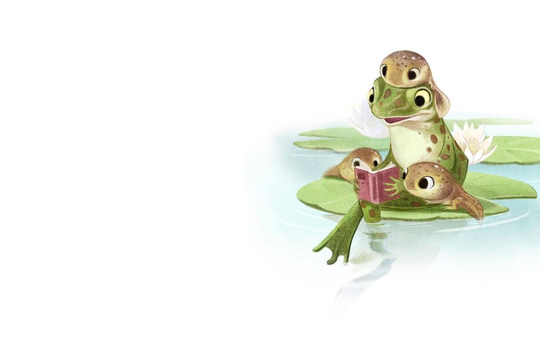 Wallpaper Pond Mood Figure Frog Tale Family Art Book Children S Tadpole Sydney Hanson Images For Desktop Section Minimalizm Download