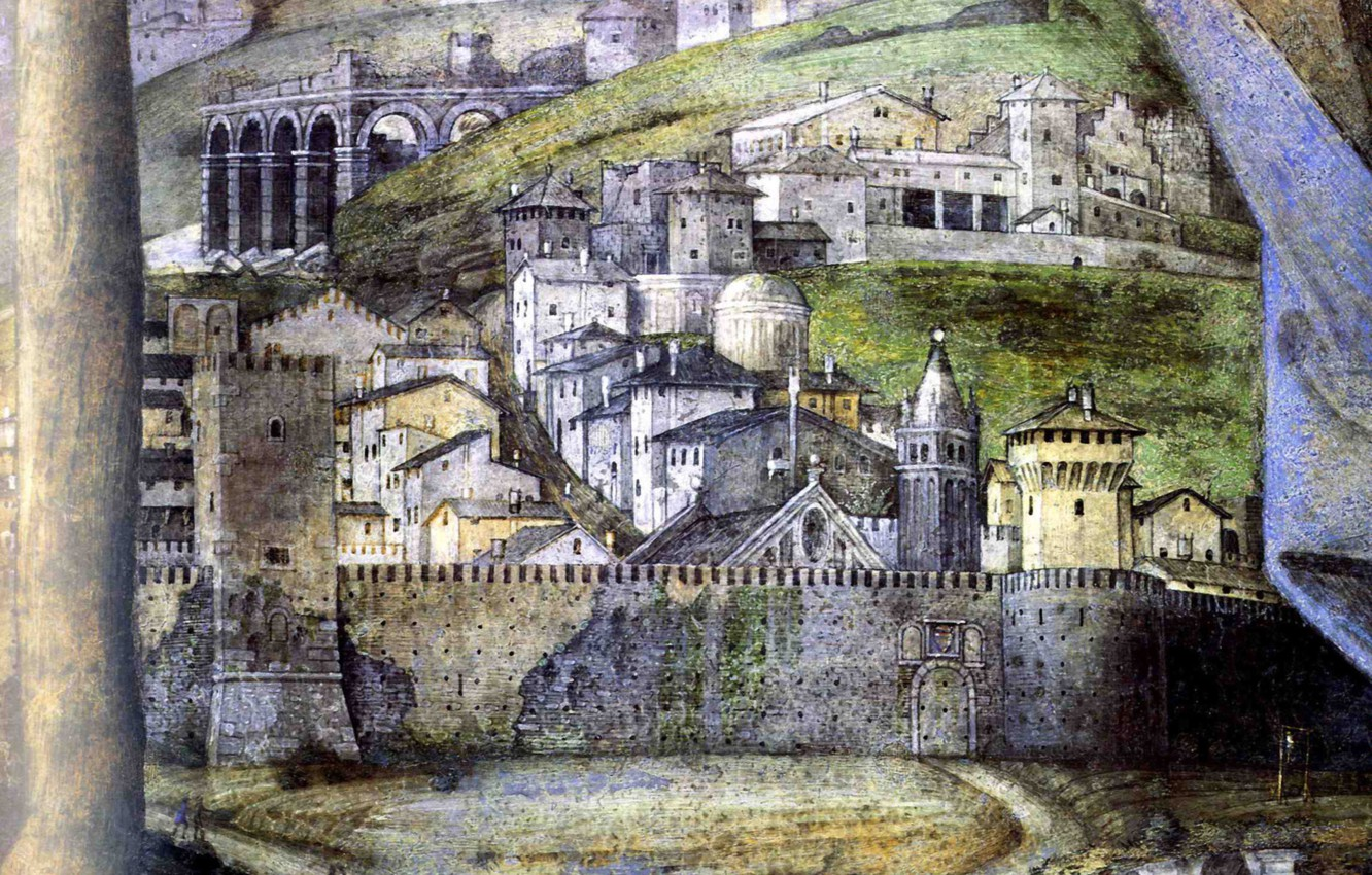 Photo wallpaper the city, fortress, detail, The House of the Bridegroom