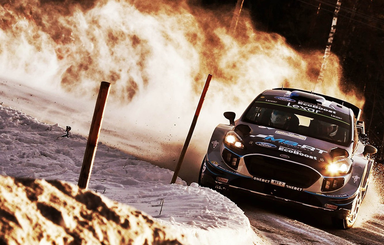 Photo wallpaper car, Ford, sport, Sweden, rally, snow, Ford Fiesta, There Miss, M-Sport