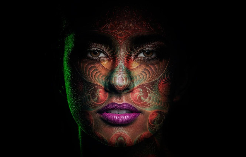 Photo wallpaper girl, portrait, makeup, art, painting, makeup, Mom Kiel, Mama Killa, the goddess of the moon