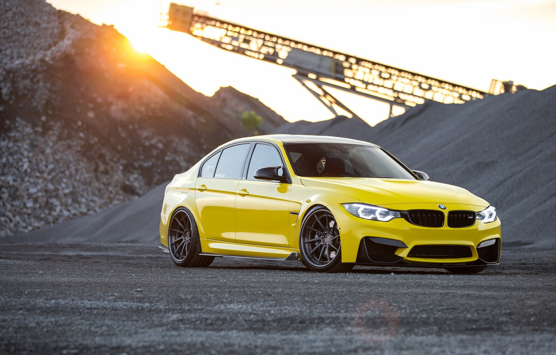 Photo wallpaper BMW, Light, Black, Yellow, F82, Stones, LED, Career
