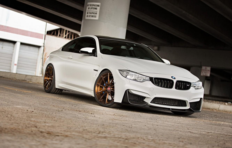 Photo wallpaper BMW, Bridge, White, F82, Sight, LED