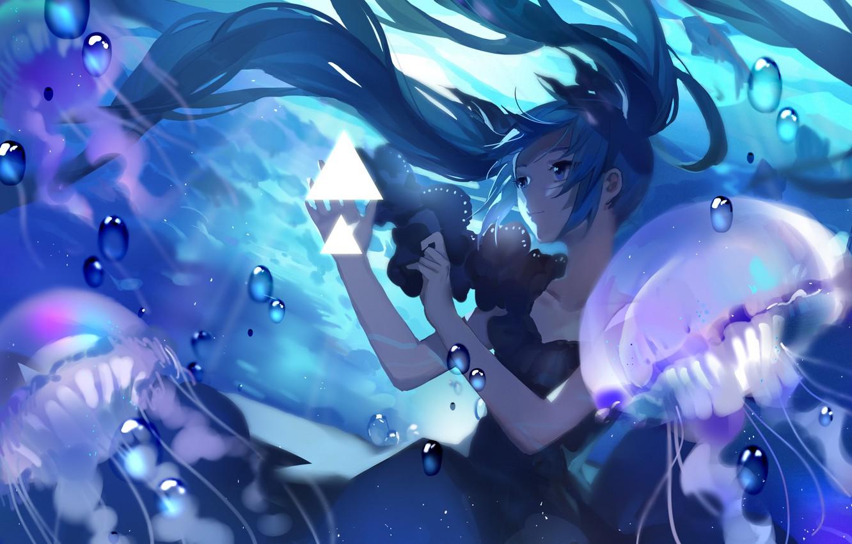 Photo wallpaper girl, hair, Medusa, anime, art, vocaloid