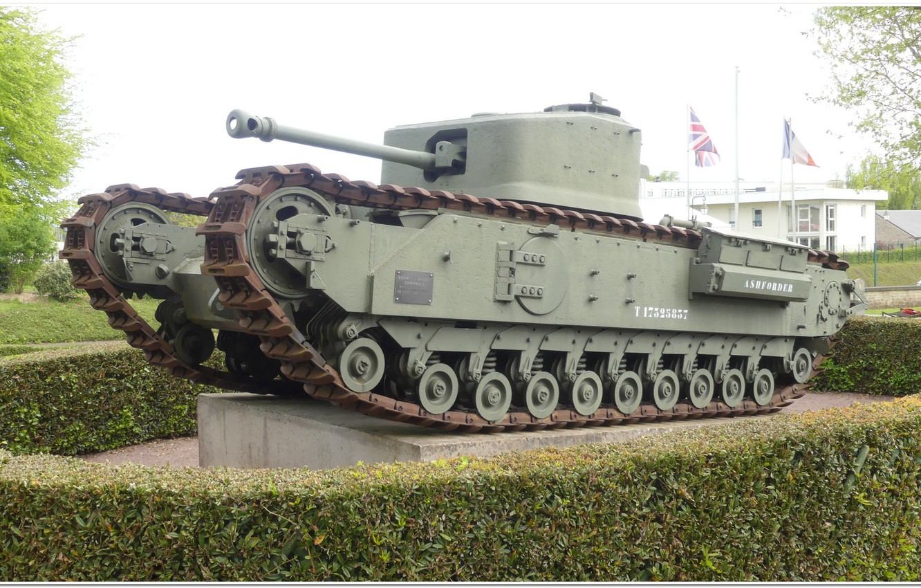 Photo wallpaper normandy, ww2 tank, churchill, bayeux