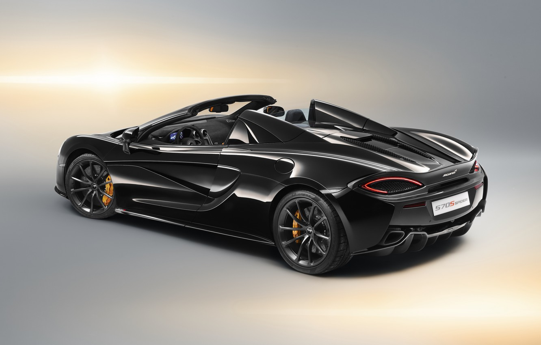 Photo wallpaper McLaren, rear view, 2018, Spider, Design Edition, 570S