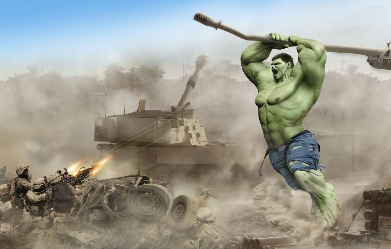 Photo wallpaper tank, grenade launcher, gun, military, HULK, Damir Martin