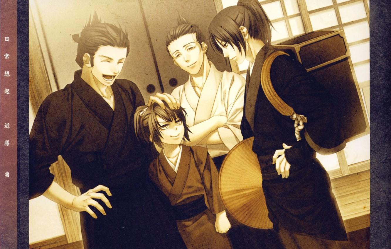 Photo wallpaper emotions, room, Japanese clothing, art, samurai, demons pale cherry, hakuouki shinsengumi kitano, yone kazuki, kondou …