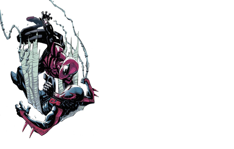 Photo wallpaper Battle, comic, Marvel Comics, Spider-man, Superior Spider-Man, 2099, Perfect Spider-Man, spider-man 2099, Spider-man 2099, the …