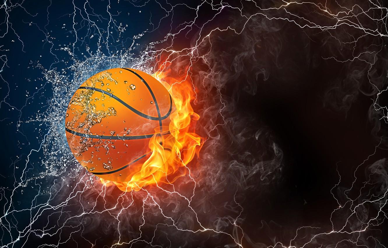 abstraktsii miach basketbolnyi miach molniia tma svet ogon v