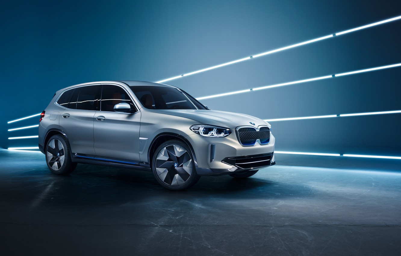Photo wallpaper Concept, side view, 2018, electrocreaser, BMW iX3