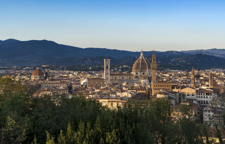 Photo wallpaper Italy, Florence, architecture, cityscape, Florence Cathedral, religion, Renaissance, sacred place, roman catholic, Italian Gothic, Arnolfo …