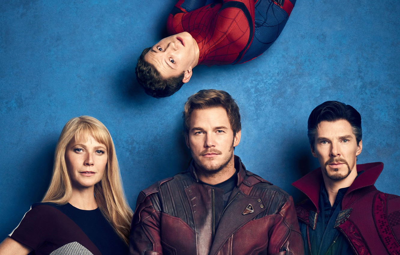 Photo wallpaper Heroes, Actor, Actress, Movie, Heroes, Superheroes, The film, Actors, Fiction, Marvel, Spider-man, Spider-man, Comics, Benedict …
