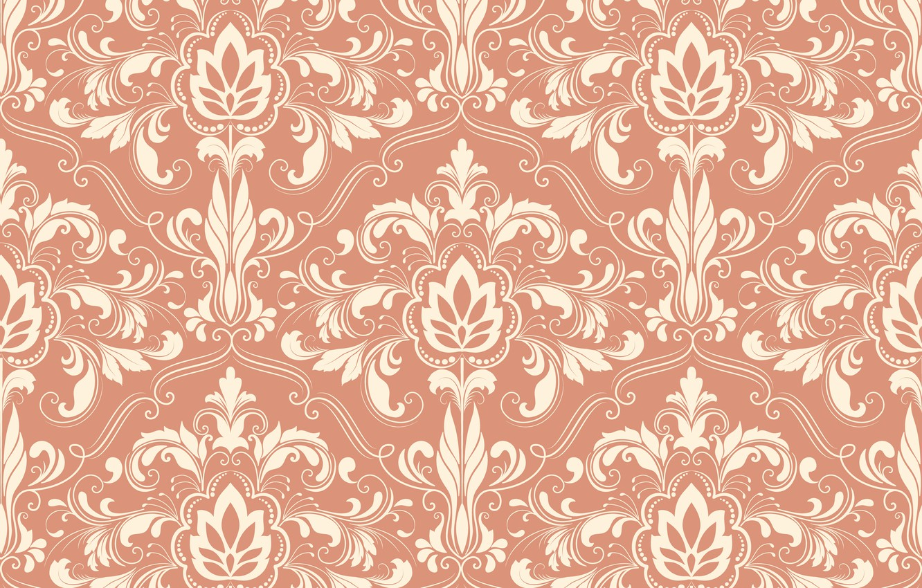 Photo wallpaper texture, ornament, floral, seamless background