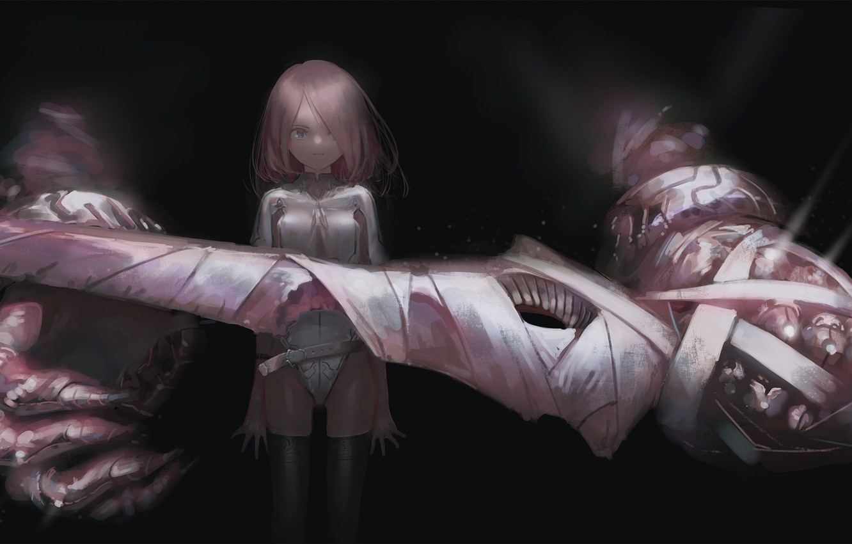 Photo wallpaper hand, anime, art, girl