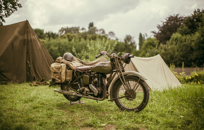 Photo wallpaper motorcycle, Ariel, military