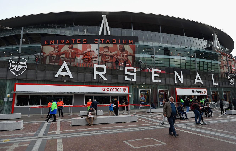 Photo wallpaper football, London, Arsenal, stadium, fans, stadium, Emirates, Arsenal, London, Emirates