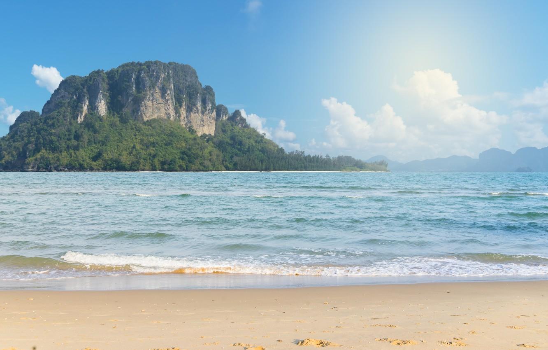 Photo wallpaper sand, sea, wave, beach, summer, rocks, summer, beach, sea, blue, romantic, sand, wave