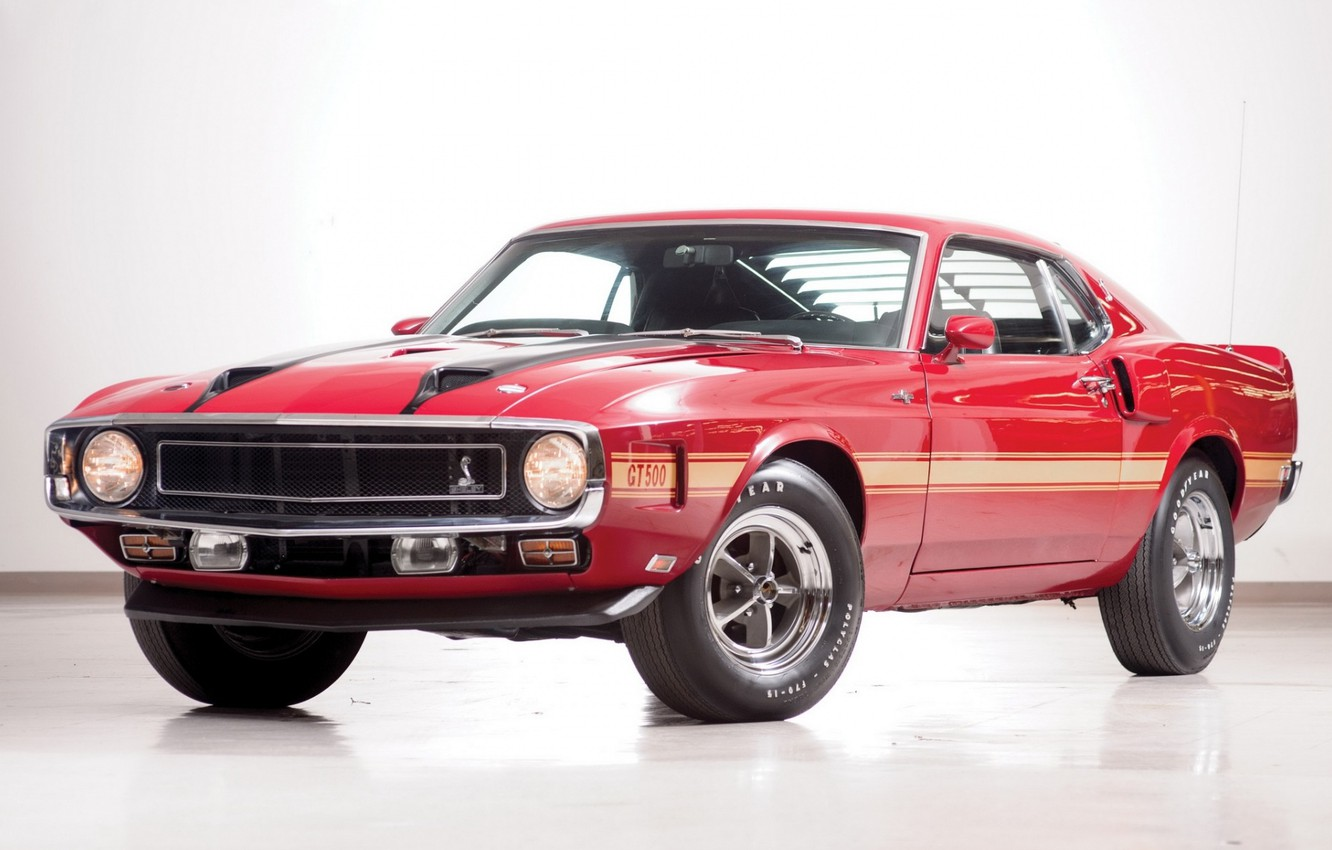 Photo wallpaper 1969, Ford Mustang, Shelby GT 500