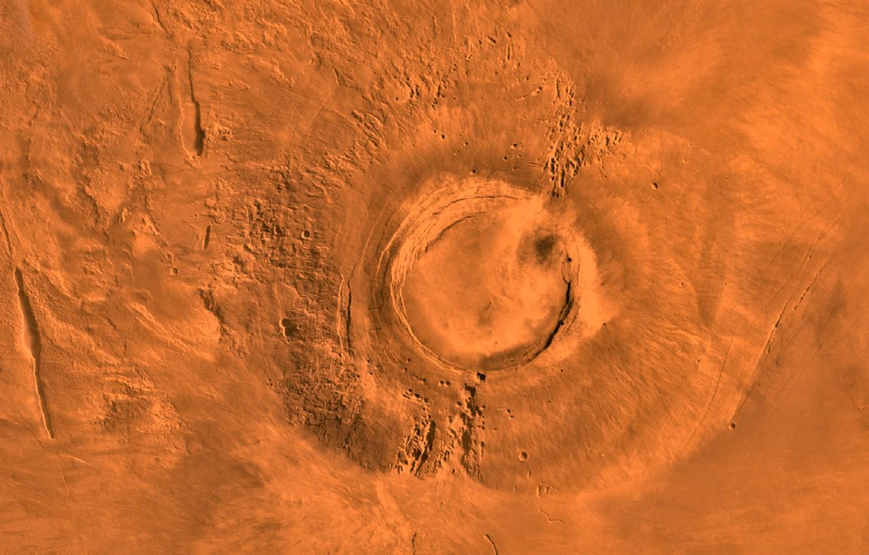 Photo wallpaper space, planet, Mars