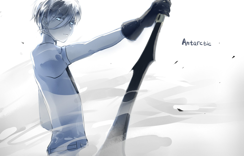 Photo wallpaper look, girl, weapons, anime, art, House no Kuni