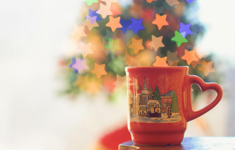 Photo wallpaper macro, background, mug