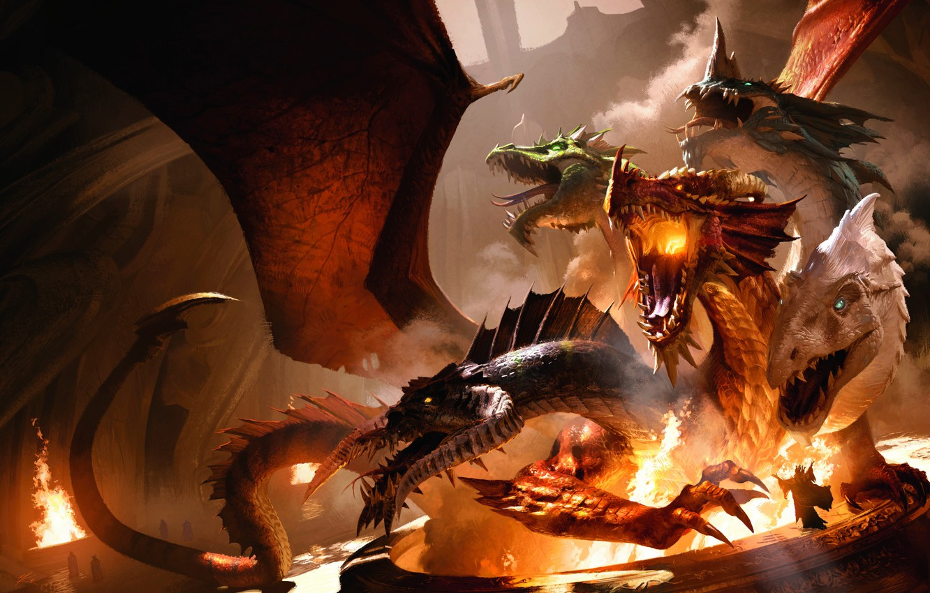 Wallpaper Fire Flame Game Dungeons Dragons Monster