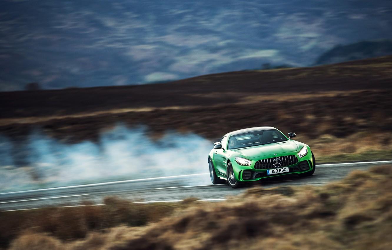 Photo wallpaper car, Mercedes, race, spped, Mercedes AMG GT R