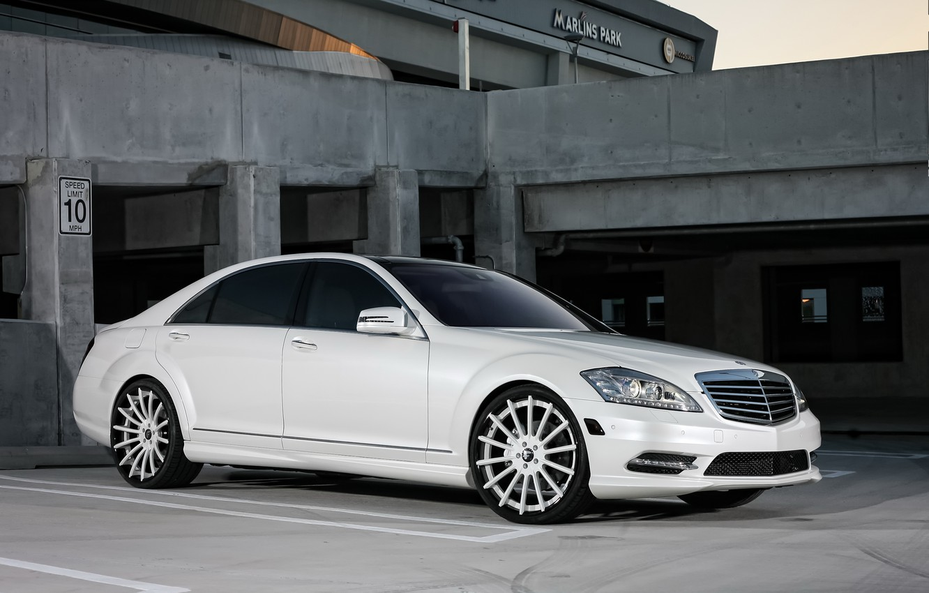 Photo wallpaper lights, Mercedes, wheels, with, color, S550, Forgiato, lowered, smoked, matched