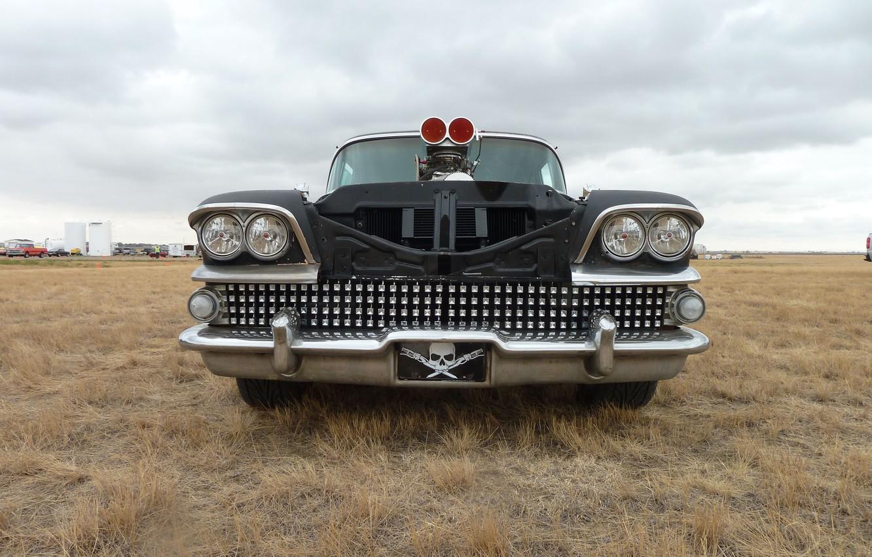 Photo wallpaper Car, Vintage, Blower, Supercharger, Horsepower, Ratrod