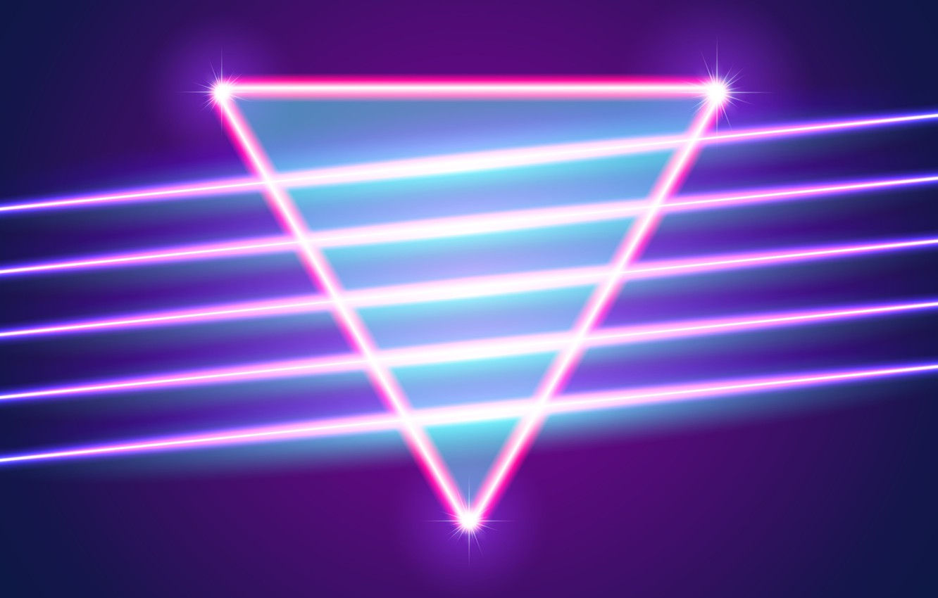Wallpaper Music, Neon, Background, Triangle, Electronic, Shine