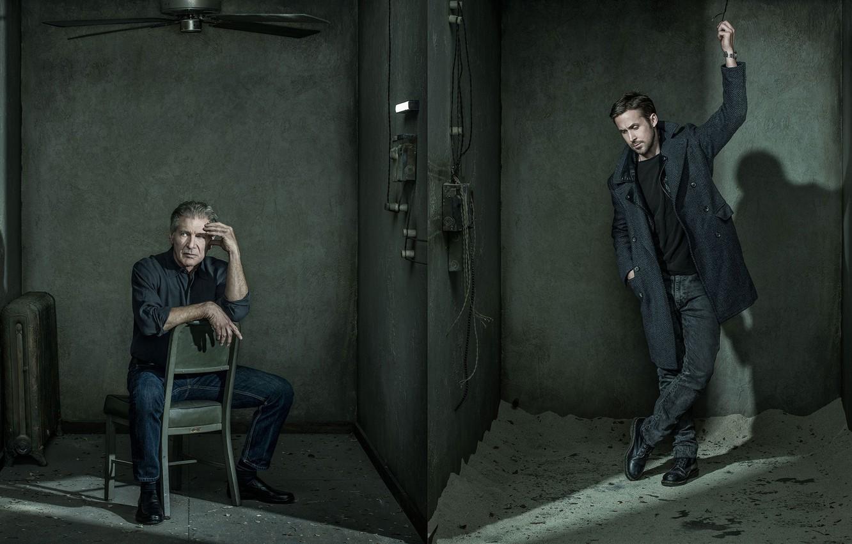 Photo wallpaper Harrison Ford, Harrison Ford, Ryan Gosling, Ryan Gosling, Blade runner 2049, Blade Runner 2049