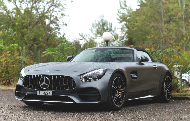Photo wallpaper Roadster, sports car, Mercedes-AMG GT, Mercedes AMG GT Roadster