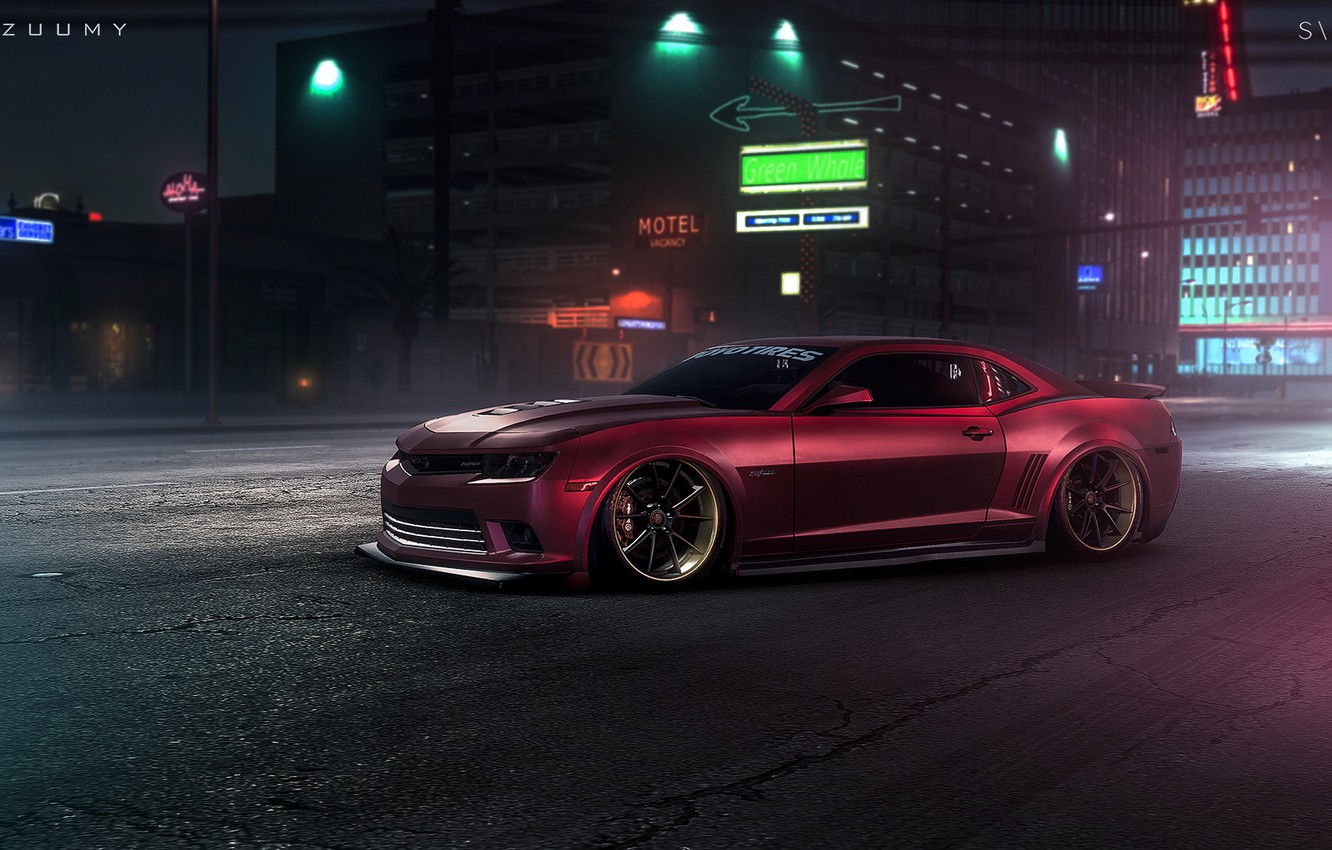 Wallpaper Camaro Usa Cars Art Photoshop Stance Need For Speed