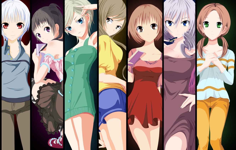 Photo wallpaper kawaii, girl, dress, anime, beautiful, pretty, asian, manga, asiatic, oppai, bishojo, small, light novel, Monogatari, …