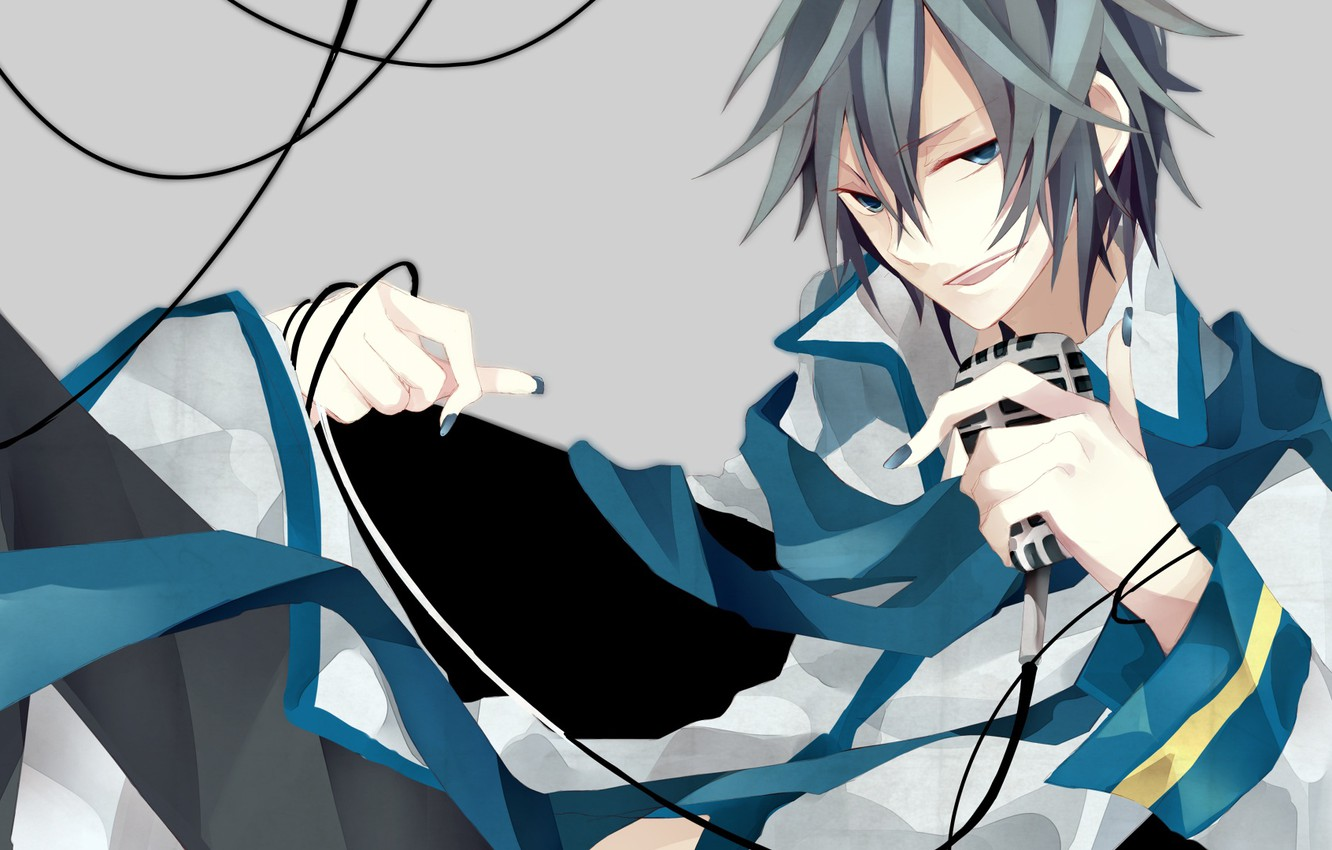 Photo wallpaper microphone, guy, Vocaloid, Vocaloid, Kaito