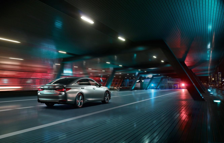 Photo wallpaper auto, the city, lights, track, Night, Lexus ES 300h F SPORT
