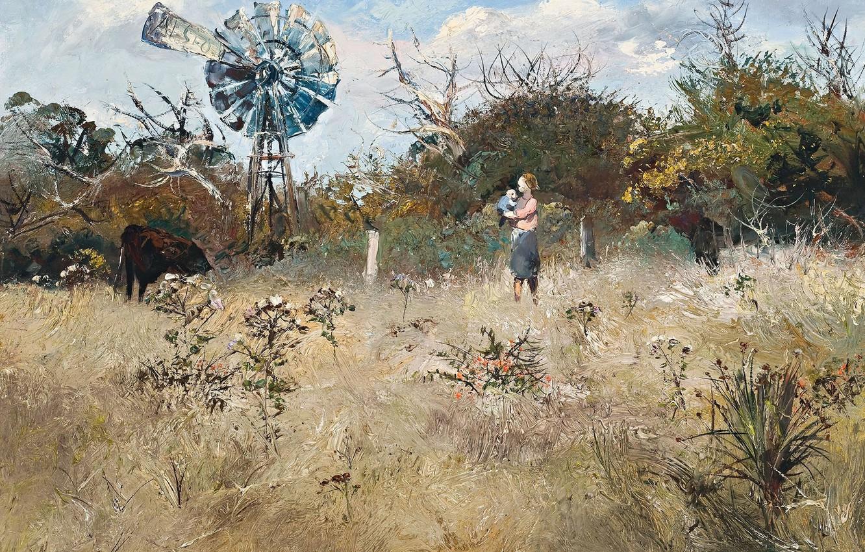 Photo wallpaper picture, Autumn Landscape, Arthur Boyd