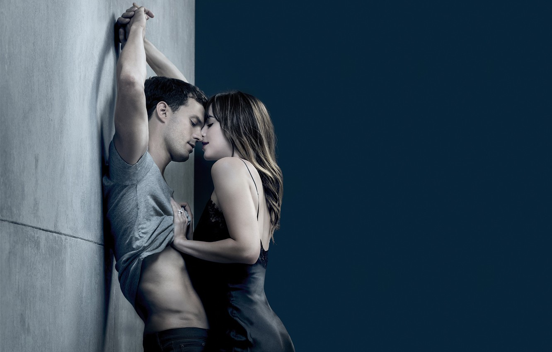 Photo wallpaper love, passion, kiss, pair, Dakota Johnson, Jamie Dornan, Dakota Johnson, Fifty Shades