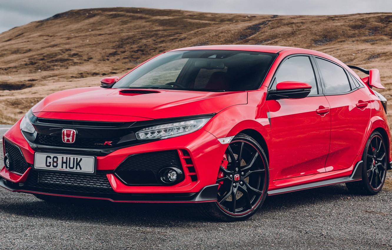 Photo wallpaper Red, Honda, Civic, Type, 2017