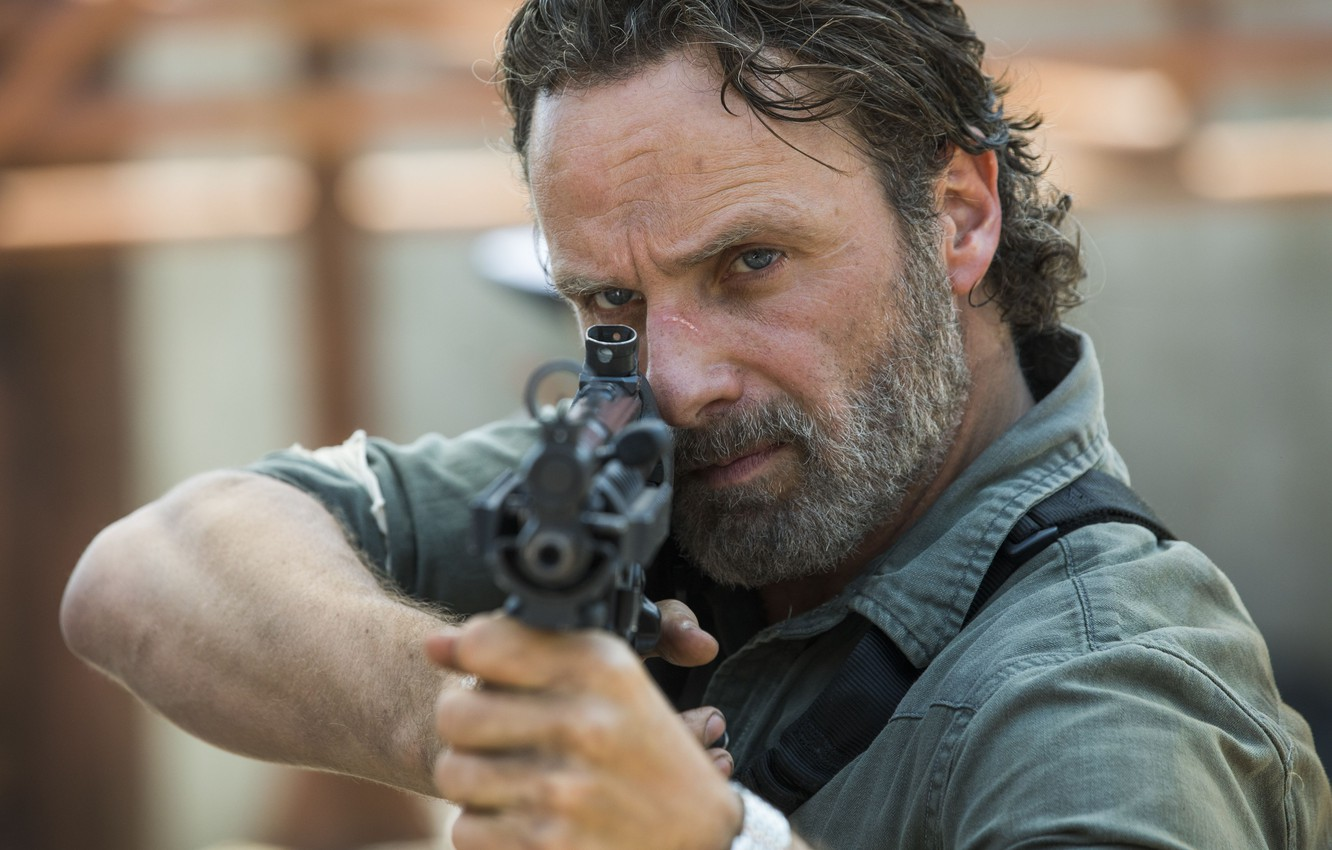 Wallpaper The Walking Dead Rick Grimes Andrew Lincoln Walking
