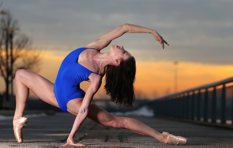 Photo wallpaper girl, pose, yoga, warm-up