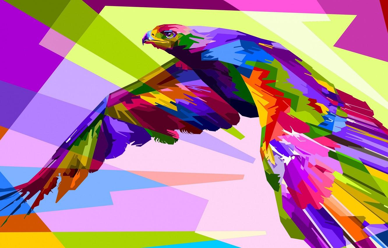 Photo wallpaper bird, bright, bird of prey