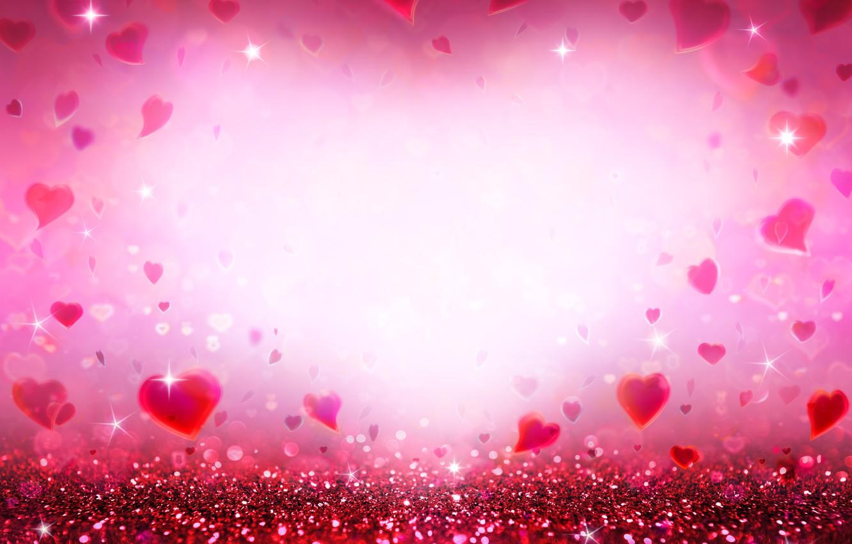 bokeh serdechki hearts love blestki glitter pink romantic
