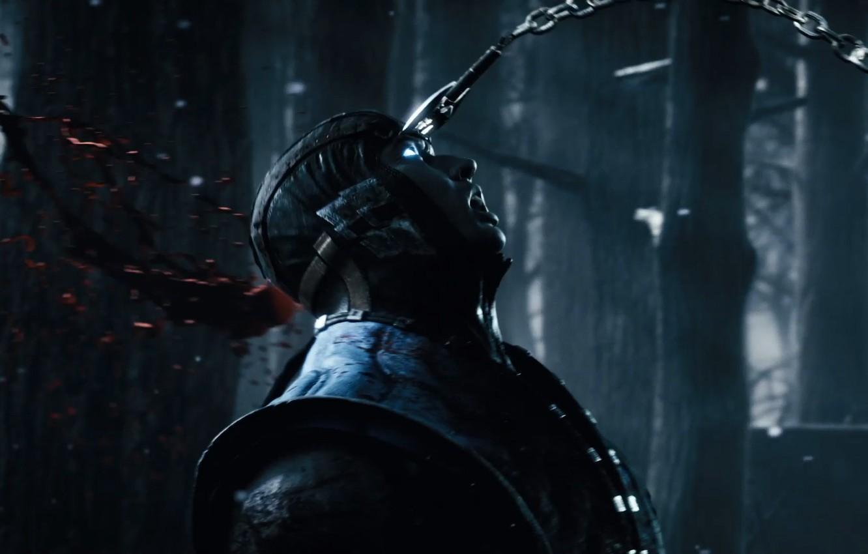 Photo wallpaper blood, ice, fighter, ninja, Mortal Kombat, Mortal Kombat, Scorpion, Sub-Zero, Sub-Zero