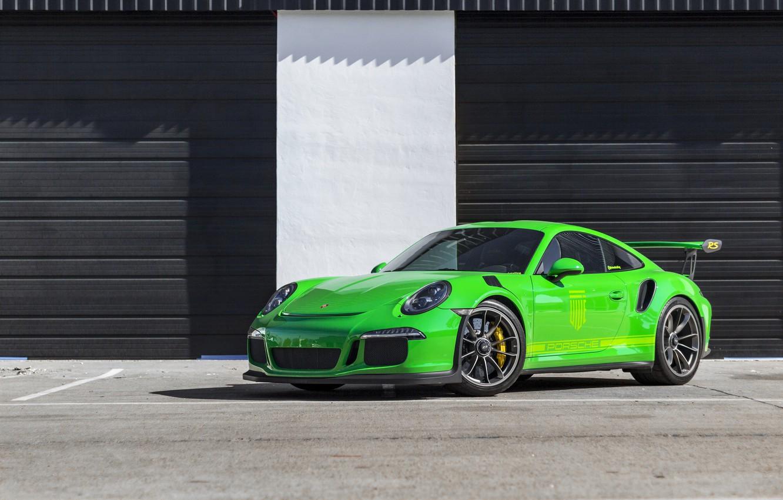 Photo wallpaper Porsche, Green, GT3RS, 991