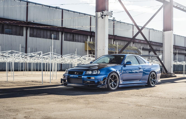 Photo wallpaper GTR, Nissan, Skyline, R34