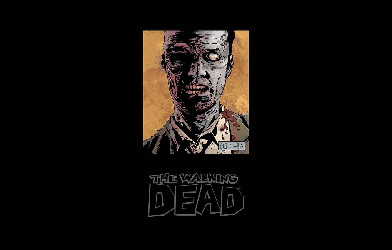 comic cover the walking dead zombie