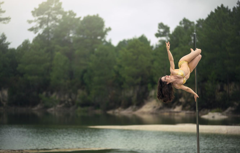 Photo wallpaper girl, dance, grace, pole, shestova acrobatics, pole dancing, Pole Sport, Cyd Sailor