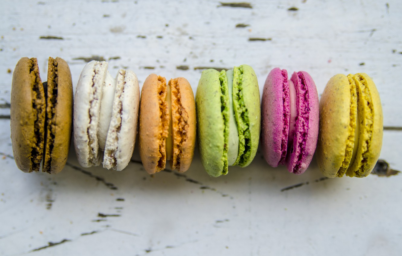 Photo wallpaper colorful, dessert, cakes, sweet, sweet, dessert, macaroon, french, macaron, macaroon
