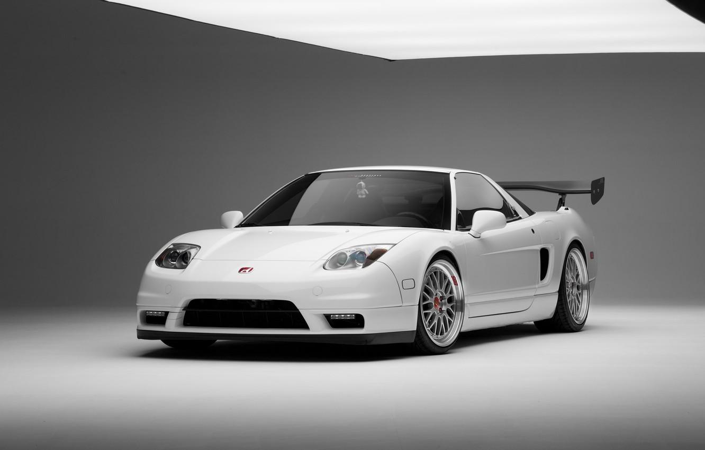 Photo wallpaper tuning, white, white, honda, Honda, tuning, bbs, acura, nsx, Acura